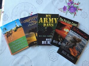The books of Bill Burke, Author & Hospice Patient